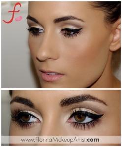 3 Florina the makeup artist Cat eyes glamorous amkeup chicago makeup artist