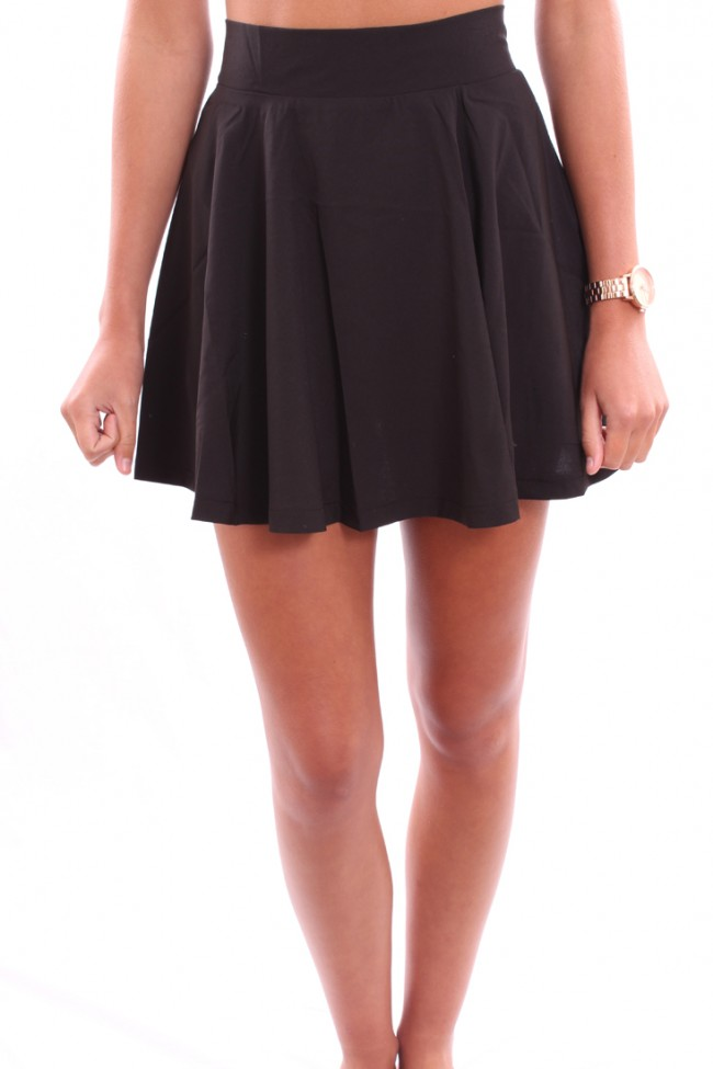 black skirt high waisted dress ala