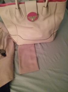 blush pink purse
