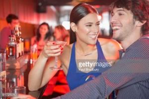 couple in bar