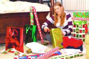 Keep your gift-wrapping station well stocked, and when possible, buy supplies that will work for other holidays as well.