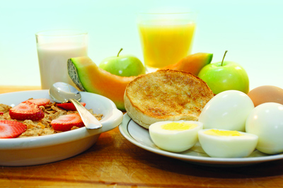 healthy breakfast milk eggs fruit food groups best brand blue