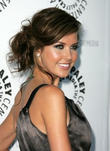audrina-patridge-hairstyle-messy-updo-with-bangs